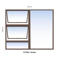 WINDOW ALU TOP HUNG PTT1815BRZ