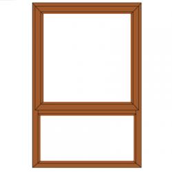WINDOW ALUM TOP HUNG PT69 BRZ
